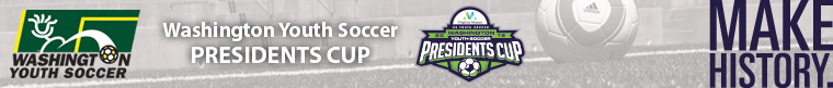 2015 Virginia Mason WA Youth Soccer Presidents Cup banner
